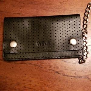 WeSC Gusten Leather Chain Wallet